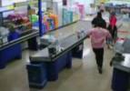 Süpermarkette dehşet anları