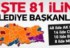 İşte 81 ilin belediye başkanları