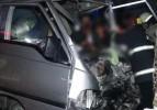Konya'da şoför sürücü kabinine sıkıştı