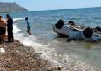 Mersin'de otomobil denize uçtu