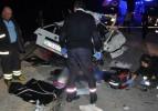 Ölüm virajında korkunç kaza: 4 ölü, 4 yaralı