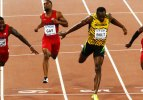 Saniyenin yüzde 1'i farkla şampiyon Usain Bolt!