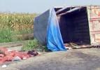 Tarım işçilerini taşıyan araç devrildi: 2 ölü