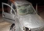Tekirdağ'da otomobil takla attı
