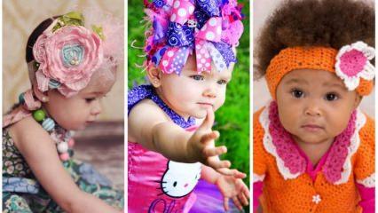 Bebeklere ve çocuklara özel tasarım saç bantları