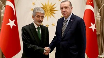 Cumhurbaşkanı Erdoğan Mustafa Tuna'yı kabul etti