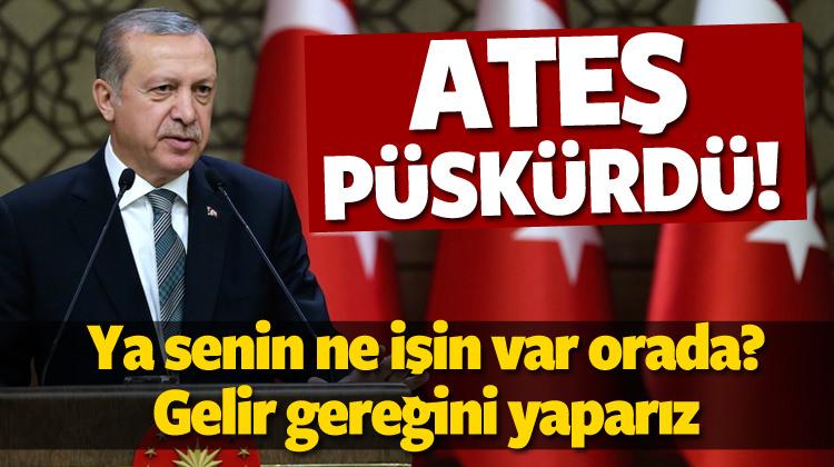 Erdoğan'dan çok sert 'Kerkük' tepkisi!