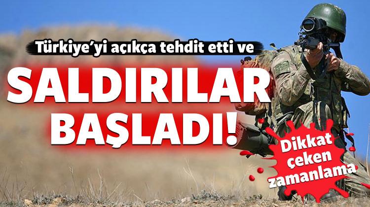 Türkiye'yi tehdit etmişti: Saldırılar başladı!