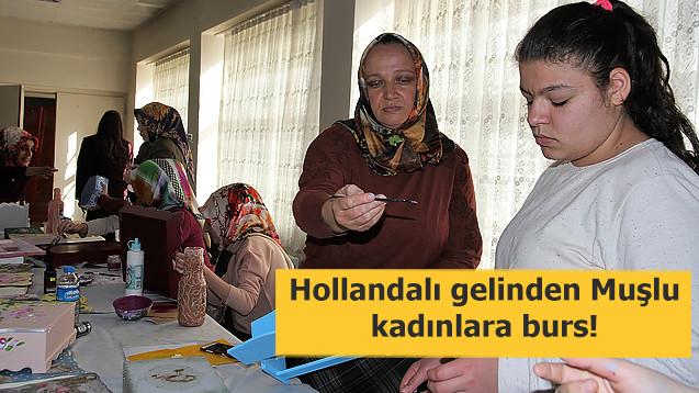 Hollandalı gelinden Muşlu kadınlara kurs