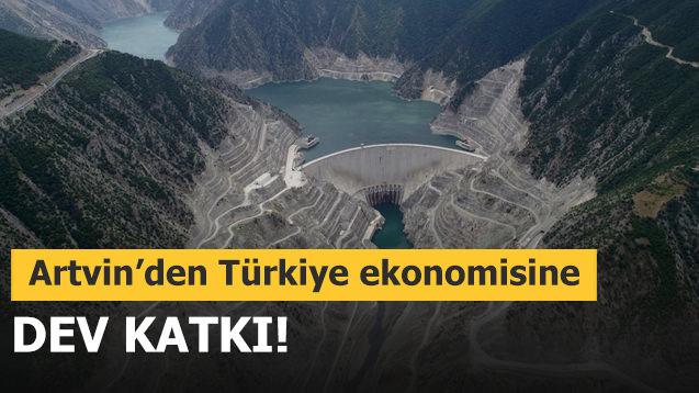 Artvin'den Türkiye ekonomisine dev katkı!
