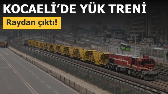 Kocaeli'de yük treni raydan çıktı