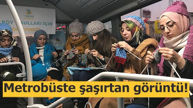 Metrobüste şaşırtan görüntü!