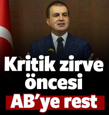 AB Bakanı Çelik: Olumsuz cümle duymak istemiyoruz