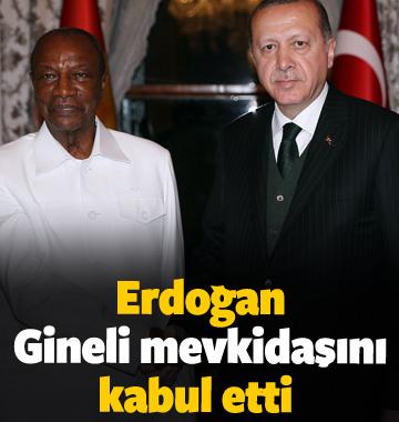 Erdoğan, Gineli mevkidaşını kabul etti