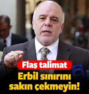 Flaş talimat! Erbil sınırını sakın geçmeyin