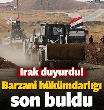 Irak açıkladı! Barzani hükümdarlığı bitti