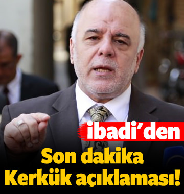 Irak'tan son dakika Kerkük açıklaması!