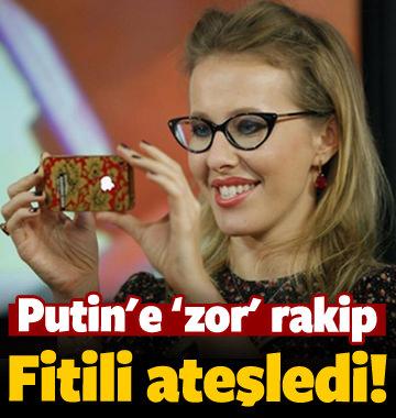 Ksenia Sobchak, seçimlerde Putin'in rakibi oldu!
