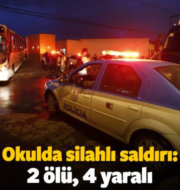 Okulda silahlı saldırı: 2 ölü, 4 yaralı