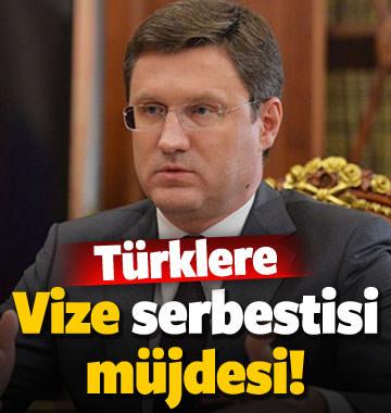 Türklere vize serbestisi müjdesi!