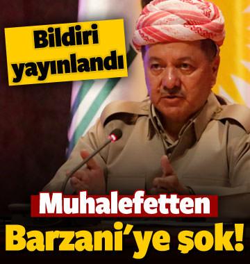 Muhalefetten Barzani'ye şok! Bildiri yayınlandı