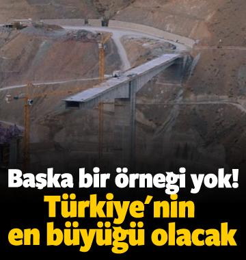 Başka bir örneği yok! Türkiye'nin en büyüğü olacak