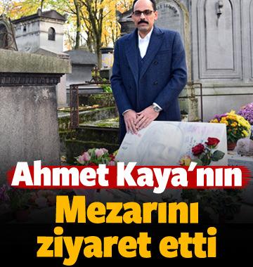 Ahmet Kaya'nın mezarını ziyaret etti