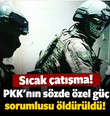 PKK'nın 'özel güç sorumlusu' öldürüldü!