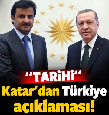 Katar'dan 'Türkiye' açıklaması: Tarihi!