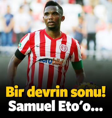 Süper Lig'de bir devrin sonu! Samuel Eto'o...