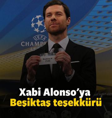 Xabi Alonso'ya Beşiktaş teşekkürü
