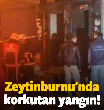 Zeytinburnu'nda korkutan yangın!