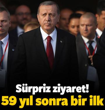 Erdoğan'dan sürpriz ziyaret! 59 yıl sonra bir ilk