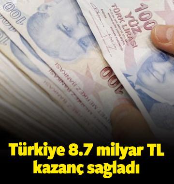 Türkiye barajlardan 8.7 milyar lira kazanç sağladı